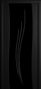 Рио Черный дуб Триплекс черный рис. с 1-ой стороны