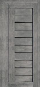Турин 7 Бетон ст. Черный лак