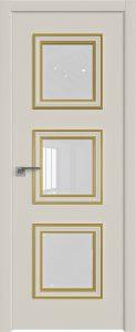 55E Магнолия сатинат ст.белый лак багет золото глянец кромка ABS