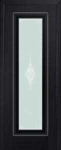 24U узор матовое Черный матовый